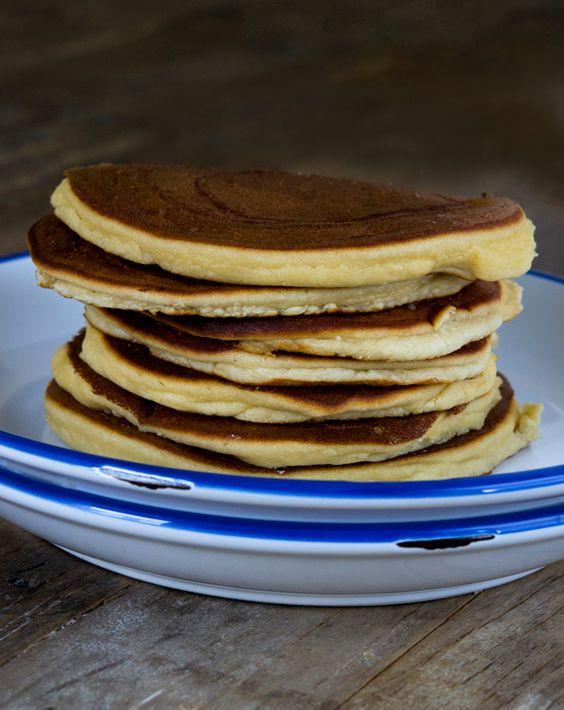 Paleo Pancakes - sem glúten em um apertado