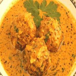 Indian Vegetarian Recipes, Zucchini/Pumpkin Kofta Curry,
