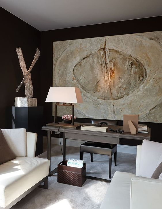 soft pale neutrals against a black ground   fabulous artwork and sculpture    Marcel Wolterinck