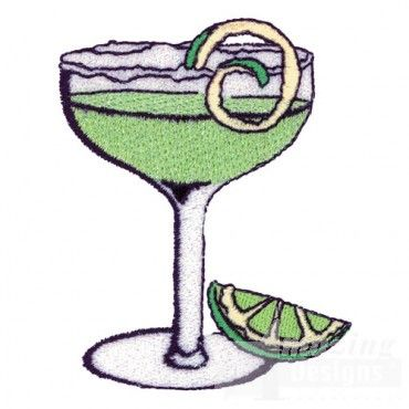 Celebrate National Margarita day with this tasty-looking embroidery design! $8.99