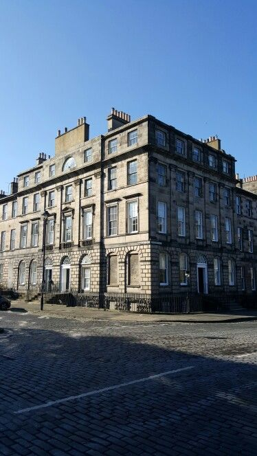 This grand Georgian property in the heart of Edinburgh's New Town is not the mansion it at first appears to be. It is in fact a purpose built tenement. The distinctive multiple doors foil the conceit.