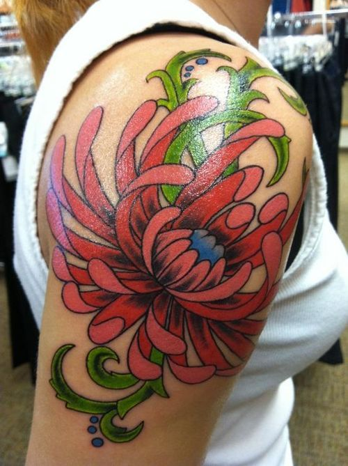 Chrysanthemum Tattoos Meaning And Design Ideas Chrysanthemum Tattoo Flower Tattoo Flower Tattoo Sleeve