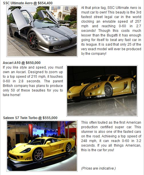 Most expensive cars 5
