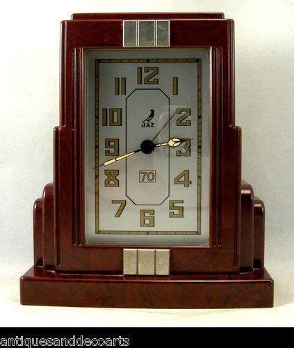 Art Deco Style French JAZ Clock Bakelite