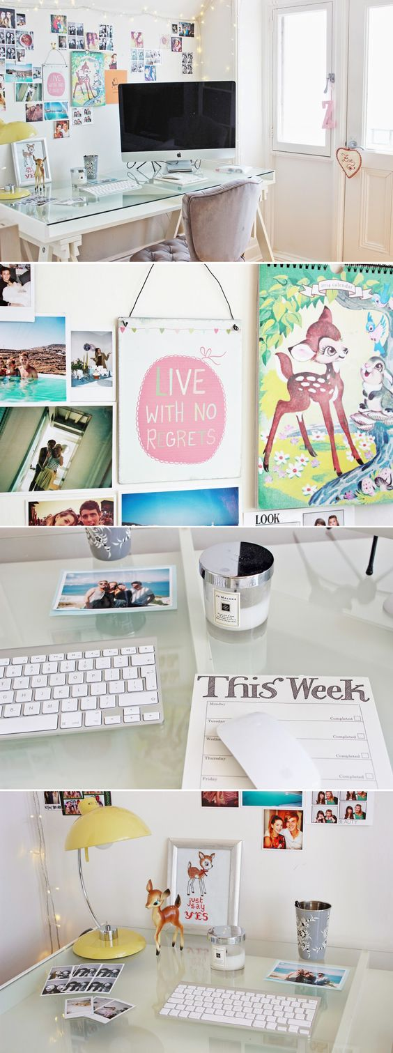 My office space pastel offices and wall decor for Room decor zoella