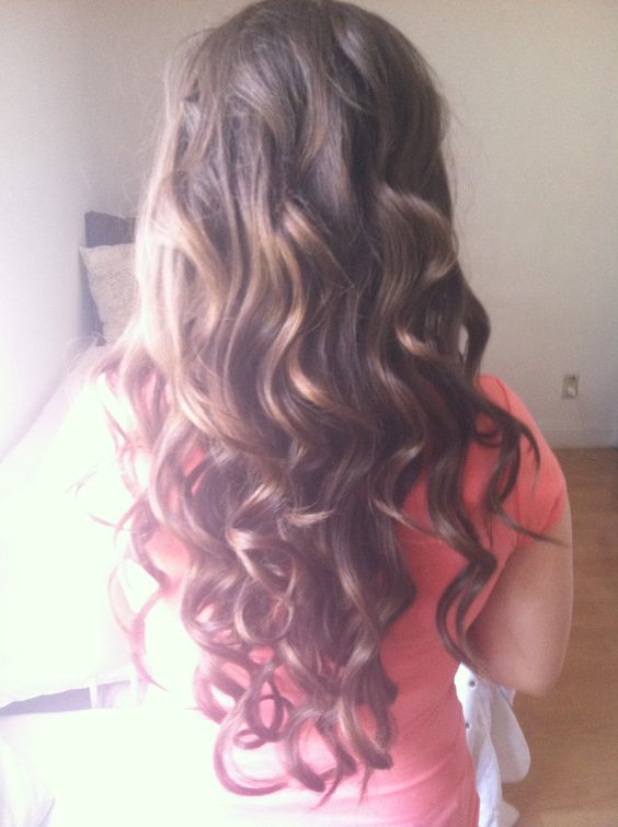 Light brown curled hair :) not dyed