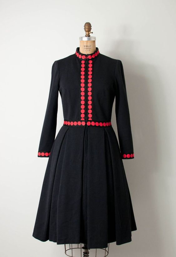 vintage 1960s dress / 60s dress / black by SwaneeGRACE
