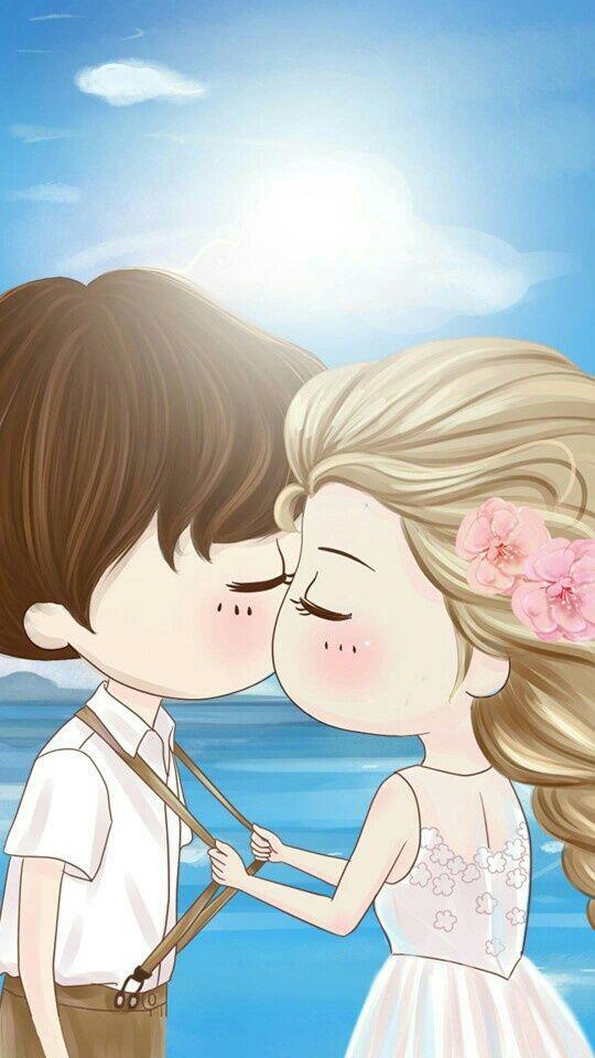 Express Your Exact Mood With These So Adorable And Cute Cartoon Couple Love Images Hd Drop Us Your Feedback And I Ilustrasi Karakter Kartun Wallpaper Pasangan