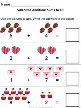 Valentine Addition & Subtraction Within 5   Valentines, Colors and ...
