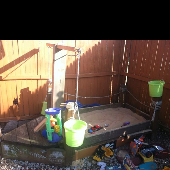 Pirate Ship Sandbox, March 2012. (updated from Pirate Ship made in April, 2006)