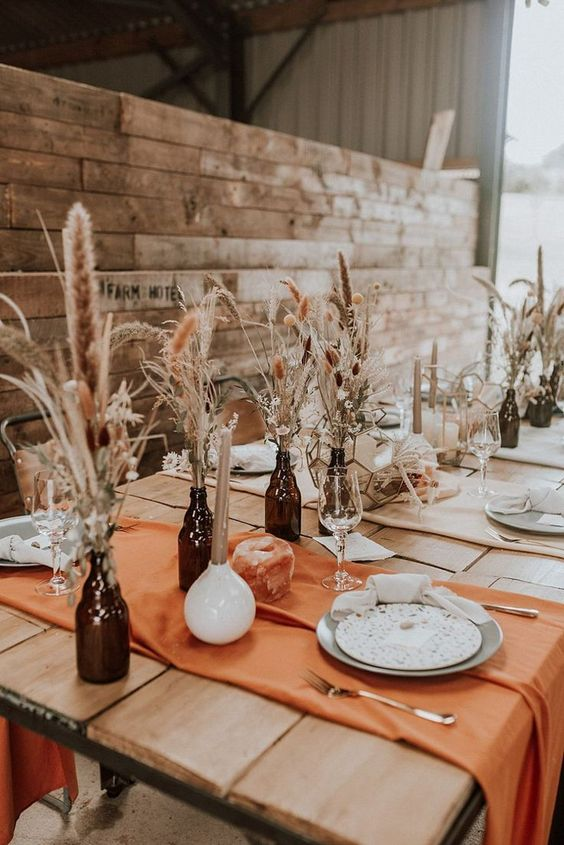 Burnt Orange | A Stunning Boho Luxe Wedding Styled Shoot With A Cool Rustic Vibe #bohobride #bohowedding #festivalwedding