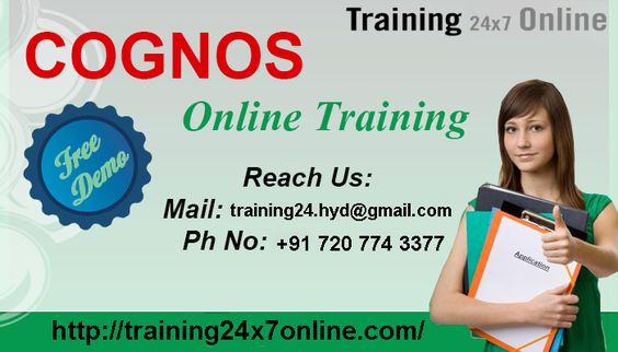 COGNOS online training at Training24x7Online  http://training24x7online.com/courses/data-warehouse/cognos-   Call us +91 7207743377   MAIL : training24.hyd@gmail.com   Our ‪#‎Online‬ ‪#‎courses‬ are ideal for students and ‪#‎working‬ ‪#‎professionals‬ who want to upgrade their educational qualifications and make advancements in their careers. ‪#‎Training24x7online‬ Provides training by experienced ‪#‎IT‬ #professionals. Learners can grasp the technology