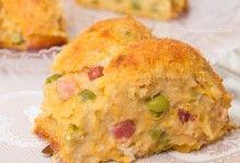 Torta di zucca salata con pancetta e piselli