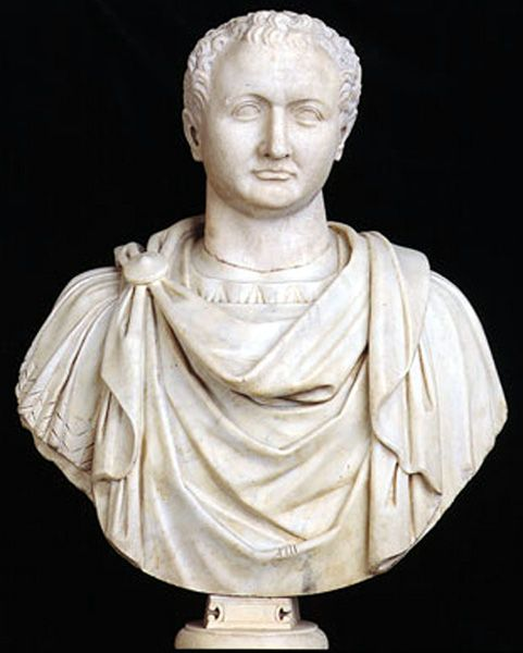 Portrait of Titus Sculpture 79-81 AD Marble cm 92 / Palazzo Nuovo / Through the rooms - Musei Capitolini