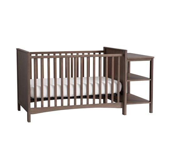 Baby Relax Emma 2 In 1 Convertible Crib And Changing Table Combo Gray Www Hayneedle C Crib And Changing Table Combo Crib With Changing Table Baby Furniture