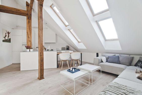 Dachgeschosswohnung mit kleiner offenen Küche und Sitzecke Home - küchen für dachgeschosswohnungen