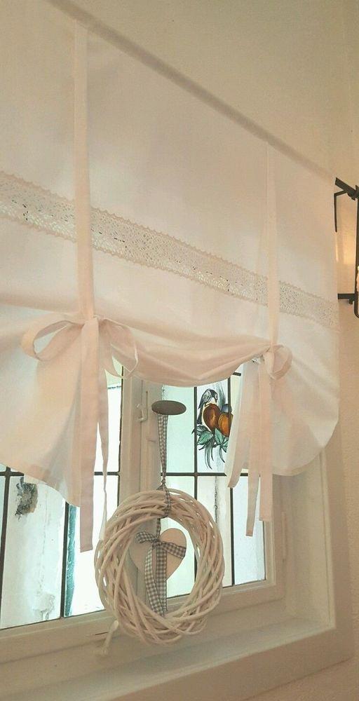 Gardine Raffrollo Spitze Versch Breite Ab 60 Cm 150 Cm Landhaus Shabby Vintage Ebay Gardinen Landhausstil Gardinen Gardinen Raffrollo