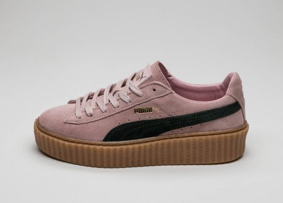 puma suede creepers coral cloud pink ultramarine green. Black Bedroom Furniture Sets. Home Design Ideas