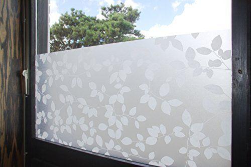 PVC Sichtschutzfolie Fensterfolie Frosted Selbstklebend Milchglas Fenster Folie