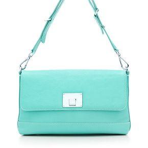 Nanette shoulder bag in Tiffany Blue® grain leather. More colors available.