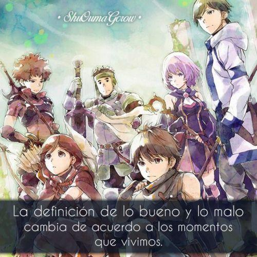 Anime Frases Anime Frases Sentimiental Shuoumagcrow Hai To Gensou No Grimgar Anime Anime Shows Anime Artwork