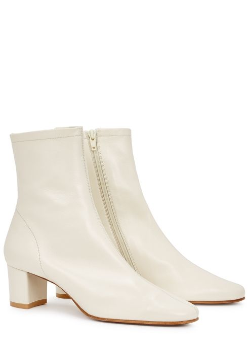 Sofia off-white leather ankle boots
