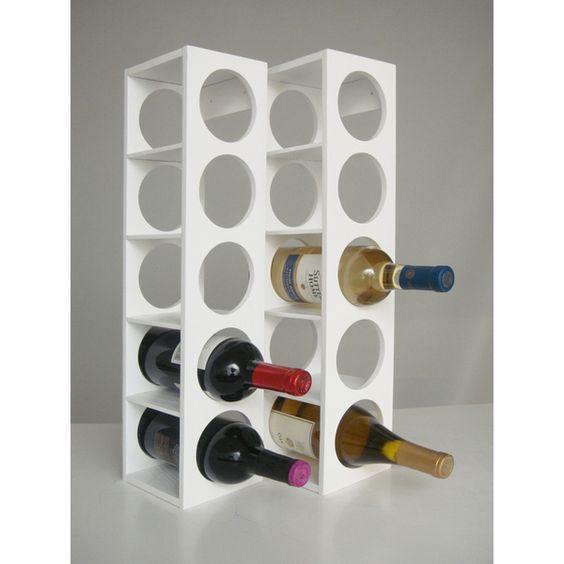 White Rutherford Wine Racks (Set of 2)