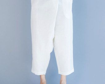 woman's loose linen trousers/wide-legged pants / by babyangella