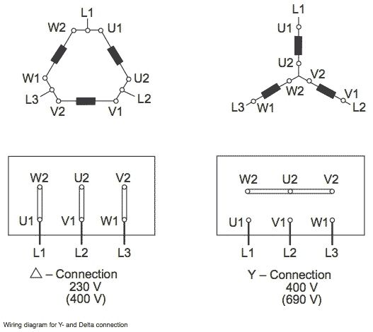 Delta Wye Motor Connection Diagram E Pinterest Motors