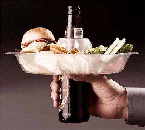 The Go Plate parks your food on your beer. @Ashley Demosthenes for Harry.