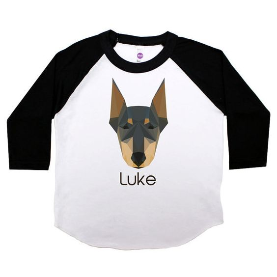 Personalized Doberman Pinscher 3 Quarter Sleeve by JaxandJillKids