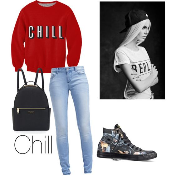 Chill by mariamakbbh on Polyvore featuring polyvore, fashion, style, TOM TAILOR, Converse and Henri Bendel
