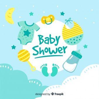 Baixe Modelo De Chuveiro De Bebê Para Menino Gratuitamente Baby Guest Book Baby Shower Keepsakes Baby Shower Templates