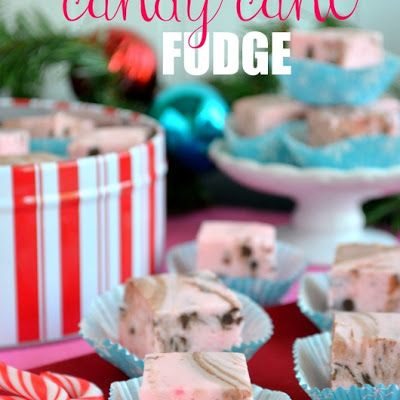 Chocolate Chip Candy Cane Fudge
