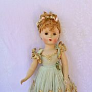 "Madame Alexander Hard Plastic Ballerina 14"" Original Silk Net Tutu!"