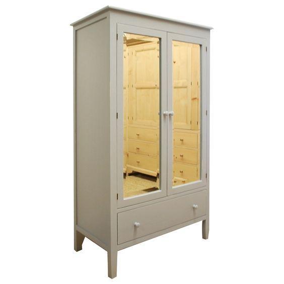 English Farmhouse Furniture Emma\'s Mirrored Armoire | Castle ...