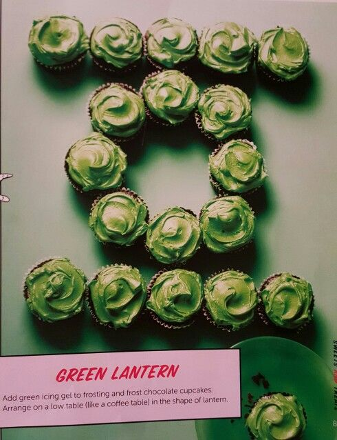 Green Lantern cupcakes - from the Official DC Super Hero Cookbook