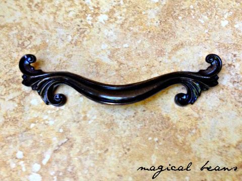 Dark Brass French Provincial Pull by Keeler Brass Co
