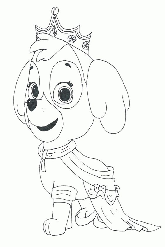 Paw Patrol Group Coloring Pages Amazing Design