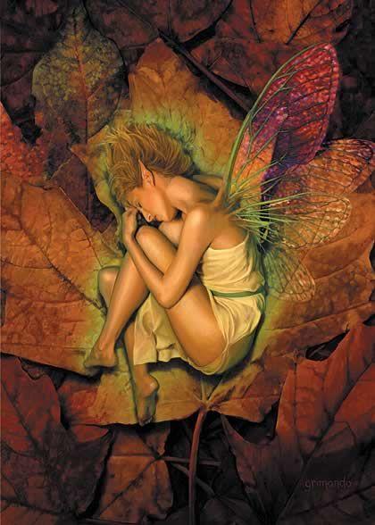 Crushed Autumn greeting card