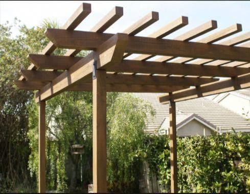 Posts Measure 3 1 2 Square Reinforced Internally With 2 Sq Galvanized Steel Available In 3 Lengths Unfinished Prim Pergola Plans Outdoor Pergola Pergola