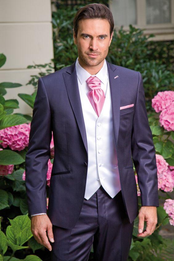 costume 3 pices bleu marine et rose plus - Costume Homme 3 Pieces Mariage
