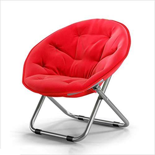 Chairs Qz Hime Folding Round Chair Steel Canvas Sofa Chair Moon