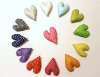 How-To: Stuffed Fabric Hearts