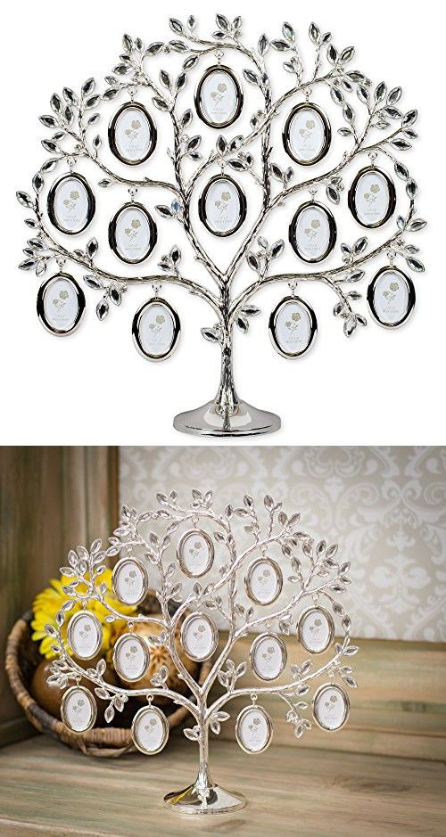 Elegant Family Tree 12 X 12 Inch Metal Table Top Photo Frame Decoration Family Tree Frame Photo Frame Decoration Frame Decor