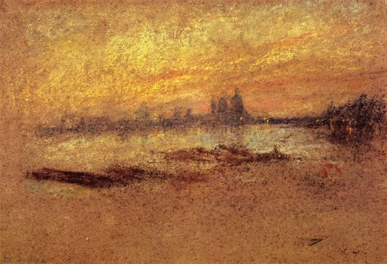 Red and Gold: Salute, Sunset, 1880 - James McNeill Whistler
