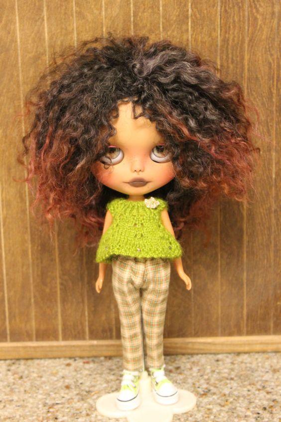 OOAK Custom Tan Blythe Doll by PaisleyMaeDesigns on Etsy