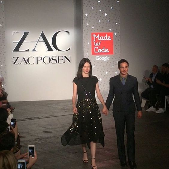 Zac and Coco close the show #zaczacposen #dressincode #nyfw