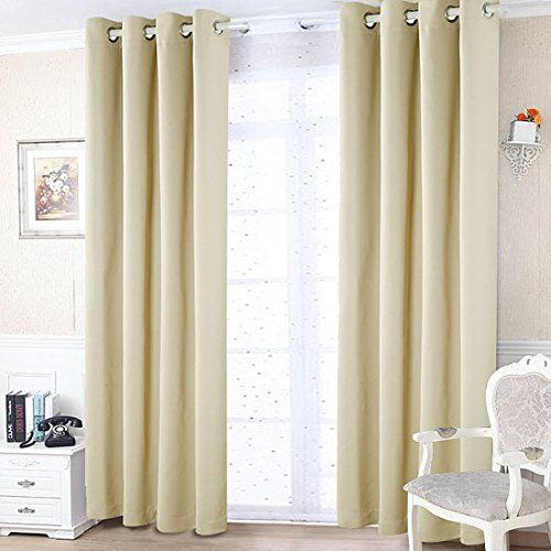 Freelife Room Darkening Grommet Blackout Window Curtain For Bedroom Or Living Room 2 Panels52 By 95inc With Images Vintage Kitchen Decor Curtains Bedroom Have A Good Sleep
