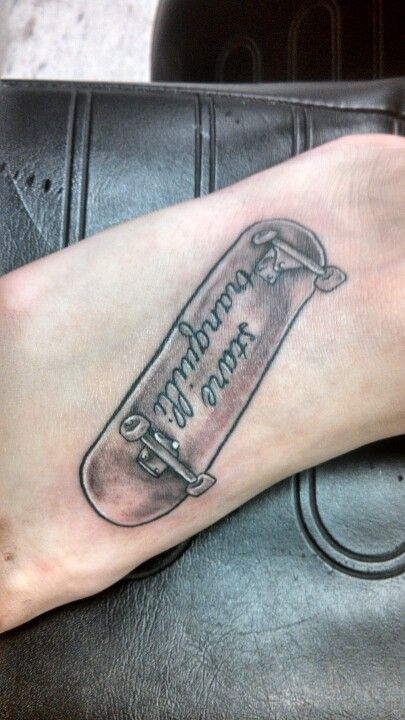 Henna Tattoo Quad Cities : Skateboard tattoo by matt keesee hill city in